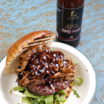 BBQ Truffle Pulled Pork Burger