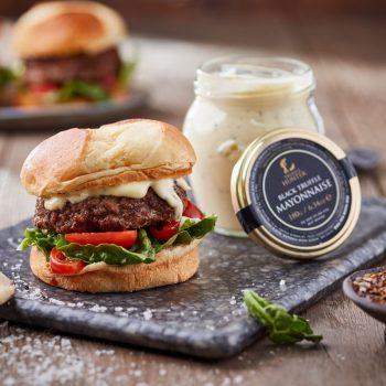 Black Truffle Mustard Lamb Burger
