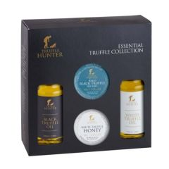 Essential Truffle Collection - Gift Set - 2 x 100ml Black & White Truffle Oil, Truffle Sea Salt & White Truffle Honey