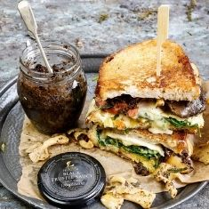 Grilled Brie and Truffled Mushroom Toastie