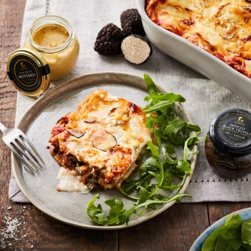 Spinach, Mushroom and Black Truffle Lasagne