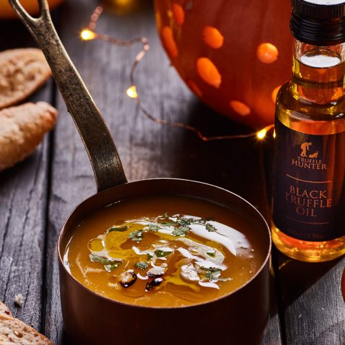 Squash Soup with Parsley and Black Truffle Oil