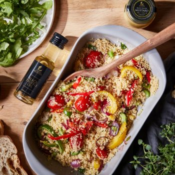 Truffle and Mediterranean Vegetable Couscous Salad