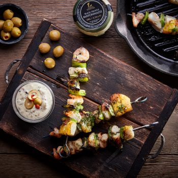 Truffled Sea Food Kebabs
