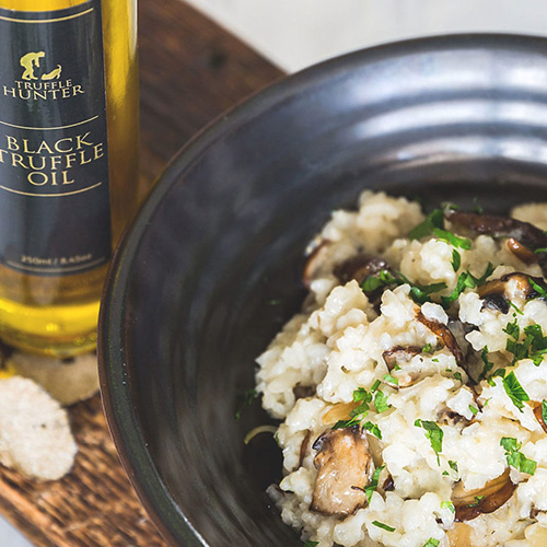 Wild Mushroom Risotto with Black Truffle Oil